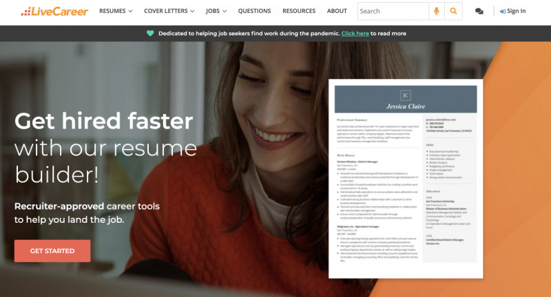 LiveCareer review